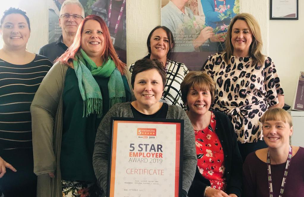 Proud Team with 5 Star award