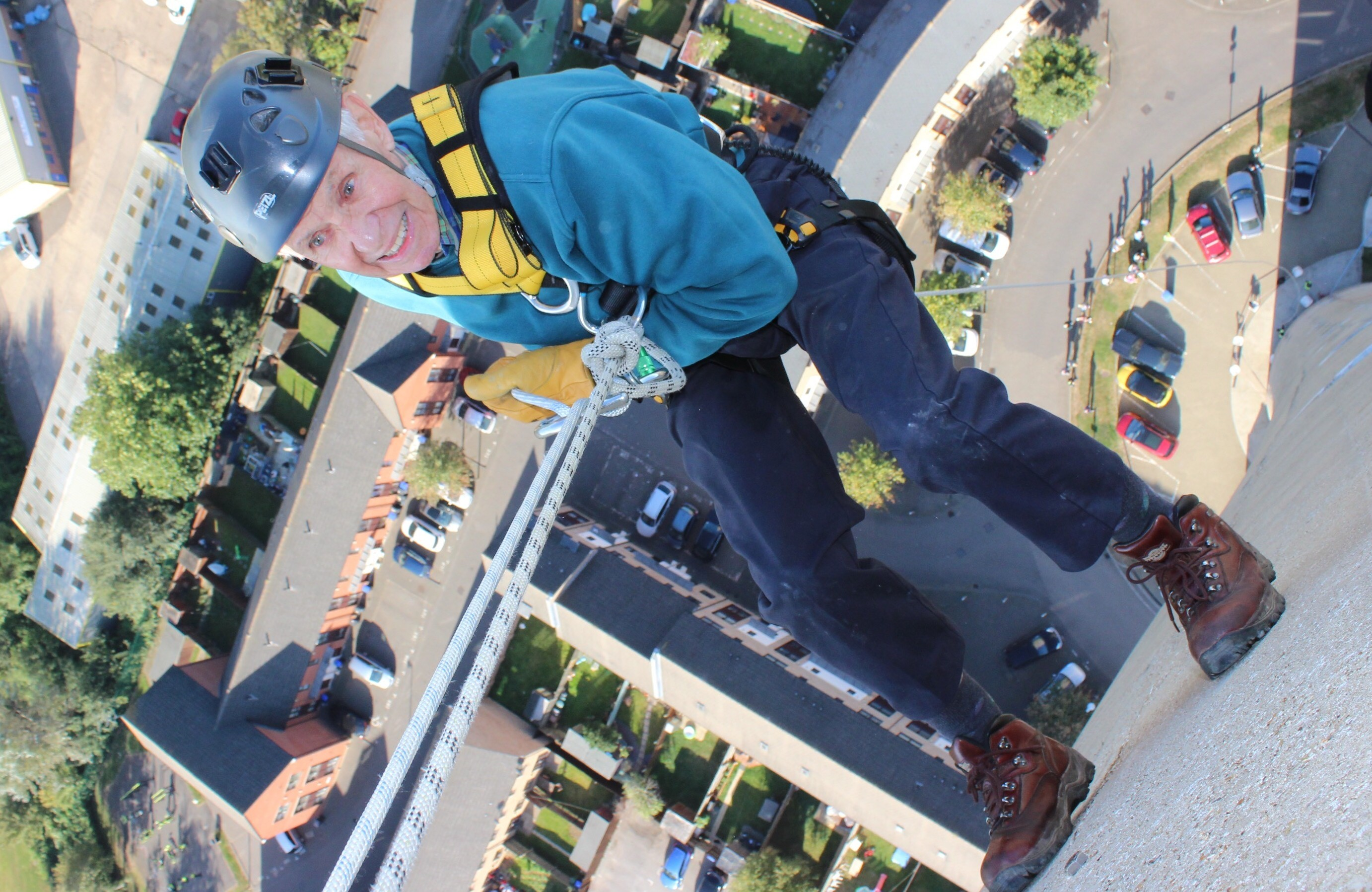 82 Year Old Abseils for Charity!