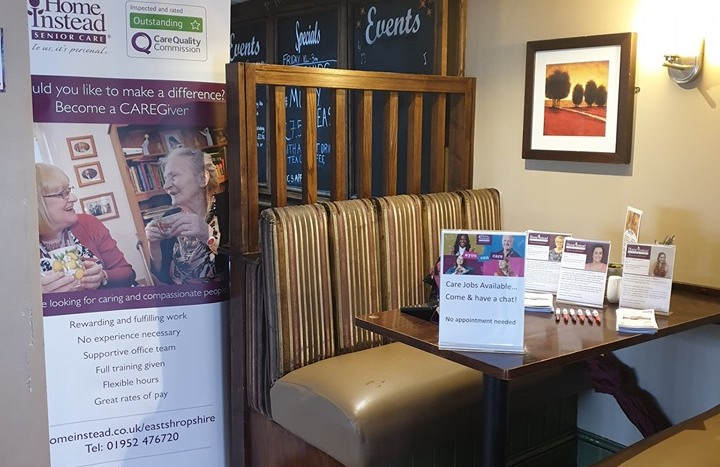 Recruitment Drop In Sessions at The Barley In Newport Set Up