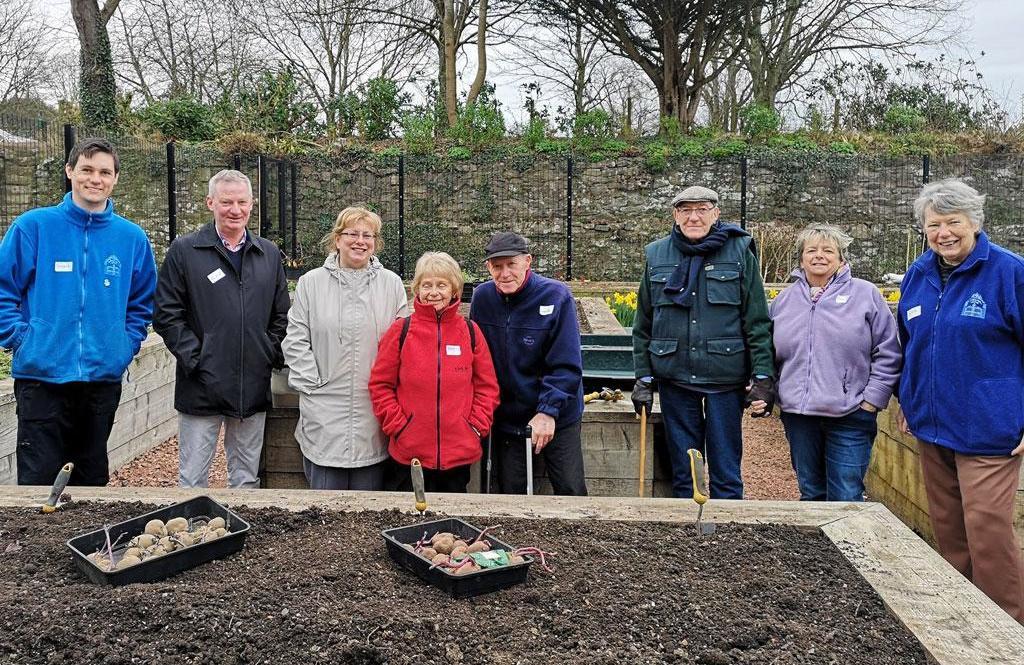 Elederly members of the Dementia friendly gardening club