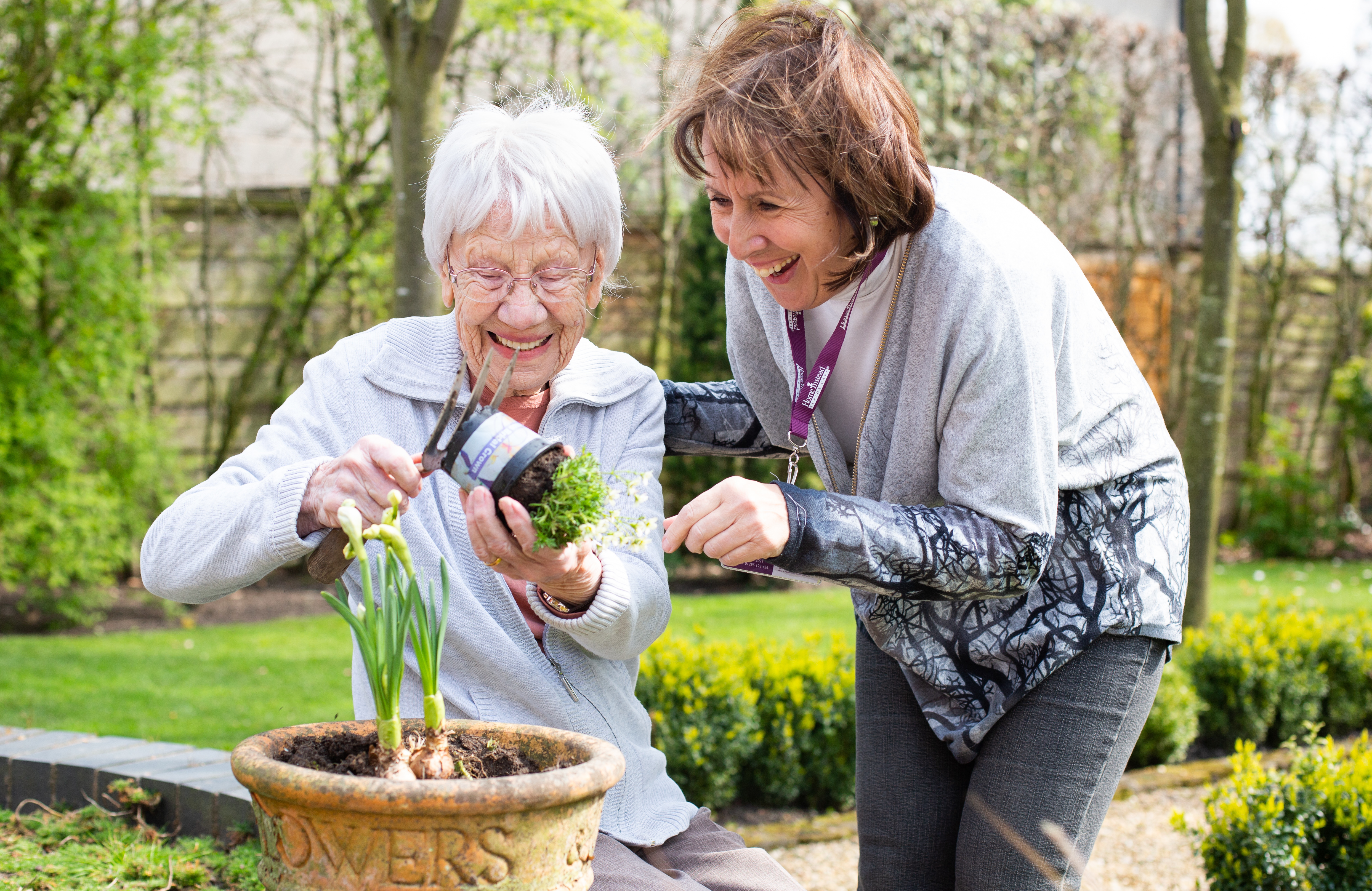 Client and CAREGiver gardening
