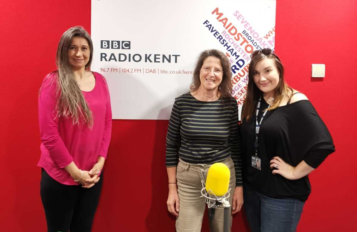 Symone Salwan; managing director at Home Instead Senior Care Tunbridge Wells, Sevenoaks & Edenbridge, Kate Sergeant; services manager (West Kent) at the Alzheimer's Society and Lauren Troup; presenter of The Health and Wellbeing Show on BBC Radio Kent.