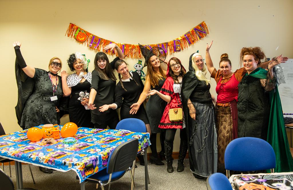 Fancy Dress Halloween Office Team